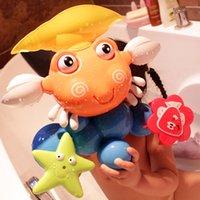 big baby bathtub - Baby Bath Toys for Children Kids Plastic Cartoon Big Crab Toy Baby Bathing Bathtub Fun Bathroom Toys Educational Toys Gifts
