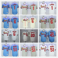 Wholesale Throwback St Louis Cardinals Baseball Jerseys Ozzie Smith Stan Musial Lou Brock Bob Gibson Willie McGee Jersey