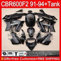Comression Mold For Honda CBR600 F2 gloss black 8 Gifts 23 Colors For HONDA CBR600F2 91 92 93 94 CBR600RR FS 1HM38 CBR 600F2 600 F2 CBR600 F2 1991 1992 1993 1994 black Fairing