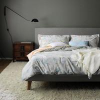 Wholesale Floral Cotton painting duvet cover Multi color King Queen size bed sheets quilt Bedding sets