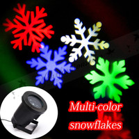 Wholesale Fedex DHL Free Waterproof Christmas Outdoor LED Snowflake Garden Lights Projector White and Snow Laser Lights Lawn Lamp Home Decoration Z649