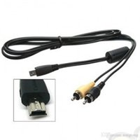 Wholesale AVC DC400 AV cable for Canon select Power Shot Cameras ft m mini usb pin to Rca Black color