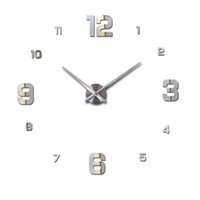 Wholesale fashion quartz watch home decor limited sale d big mirror diy real wall clock modern design room still life