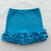 baby shorts shipping - toddler pants baby girl short solid color cotton lace lotus edge briefs short ruffle baby short