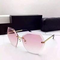 Wholesale Sunglasses Women Rimless Brand Designer New Fashion Vintage Sun Glasses Oculos De Sol Feminino Female Sunglasses