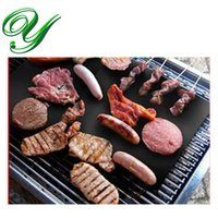 Wholesale grill mat baking mat pad BBQ barbeque tools Cooker portable picnic outdoor grill PTFE coated fiber glass fabric cm easy clean non stick