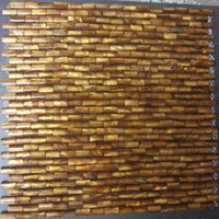 Wholesale 10 mm D arch Brick Gold Mother of Pearl Shell Mosaic Slabs