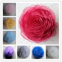 Wholesale Round Pillow Cushion Covers Organza Pillowcases Car Chair Sofa Love Valentine s Gifts Home Garden Decoration Decorative Pillow ROSE cm