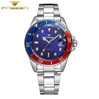 Vente en gros- FNGEEN 9001 Montre bracelet automatique étanche Hommes Mode Mécanique Montre colorée