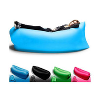 Wholesale Outdoor Portable Fast Inflatable Sleep Bags Banana Air Sleeping Bag Camping Lazy Hangout Beach Air Beds Chair Sofa Couch