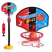 adjustable height backboard - Kids Basketball Hoop Net Backboard Set Stand Height Adjustable Basketball Stand Sports Outdoor Toys with Inflator Pump VE0250