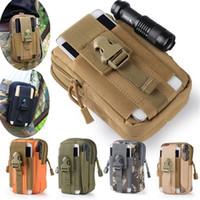belt clip purse - Universal Outdoor Tactical Holster Military Molle Hip Waist Belt Bag Wallet Pouch Purse Phone Case with Zipper for iPhone HTC