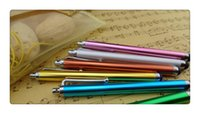 Wholesale DHL inch Metal Universal Capacitive Touch Screen Stylus Pen for Smart phone tablet pc