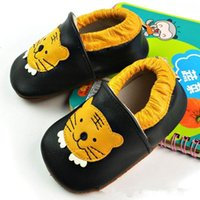 animal friendly shoes - 2015 new cute animal handmade genuine leather baby toddler shoes for spring autumn summer with tiger pattern environment friendly