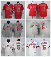 angels camo - New Retro Albert Pujols Jersey Los Angeles Angels Flexbase Baseball Jerseys Albert Pujols of Anaheim White Pullover Red Grey Camo