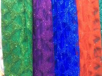 Wholesale Chinese made sequined dress fabric lace fabrics