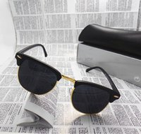 Wholesale Fashion Women Men luxury Sunglasses Unisex Semi Rimless Sun glasses Brand Designer shade eyeglasses Lens Color With All Box Case