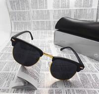 achat en gros de lunettes de soleil lentilles de couleur-Lunettes de soleil unisexe Semi-Rimless de lunettes de soleil de lunettes de soleil de marque de marque de concepteur