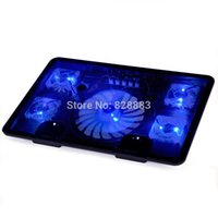 aluminum notebook cooling pad - Notebook cooling pad Blue LED Laptop Cooler Fans USB Port Stand Pad for Laptop quot PC usb cooler for notebook USB Cord