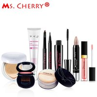 Vente en gros - Ensemble de maquillage nu BB Cream Blush Eyeliner Mascara Lipstick Finish loose Powder Kits pour Lady Gift City Elite MC001