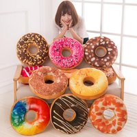 Wholesale Doughnut Hamburger Cushion Decorative Pillow Throw Pillows for Car Sofa Christmas Gifts Plush Toys for Girls Colors