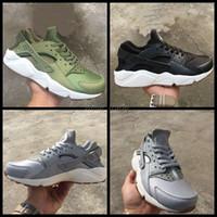 2017 Air Huarache I Zapatillas para Hombre Mujer, Verde Negro Zapatillas Gris Triple Huaraches Athletic Zapatillas Hombre huraches Zapatos Deportivos