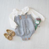 Cheap no brand Baby boys girls knitting pants Best Whole Size Unisex toddler kids climb suit