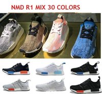 authentic shoes - NMD R1 Primeknit PK Versions Mixed Authentic Running Sneakers Fashion Running Shoes NMD Runner Primeknit Men Women Shoes With BOX