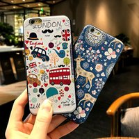 apple bus - For iphone S Plus Embossed Christmas Elk Cartoon Bus Elephant TPU Soft Case with opp package