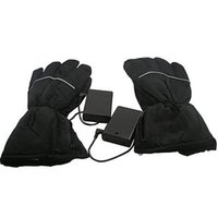 Emergency / Portable battery motorcycle gloves - High Quality Outdoor Activitis Motorcycle Electric Battery Mittens Black heated gloves usb For External Battery Pack