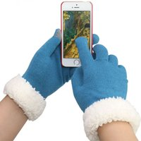 Wholesale Fedex DHL free high quality neutral coral velvet warm knitted gloves capacitive touch screen gloves iphone s ipad smart phone gloves
