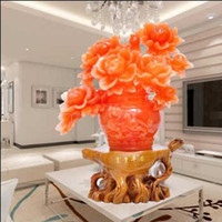 Wholesale Peony furnishing articles Riches and honour peace peony vases furnishing articles family home sitting room adornment Wedding wedding ceremo