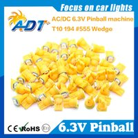 Wholesale bulb t10 T10 Hotselling High quanlity Brightest AC V SMD5050 led bulbs for pinball game machine parts