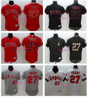 Wholesale 2017 Men s Los Angeles Angels of Anaheim Mike Trout Red Flexbase Authentic Collection Player Jersey High Quality Baseball Jerseys