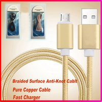 Wholesale High Speed Meter FT Micro USB USB Cable Fabric Braided Micro USB Data Cable For Smart phones