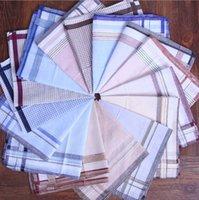 Wholesale Cheap square handkerchief mens womens cm cotton pocket stripe handkerchief