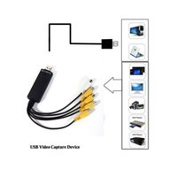 Wholesale USB Easycap Capture Channel Video TV DVD VHS Audio Capture Adapter Card TV Video DVR Easy cap ch for PC Laptop