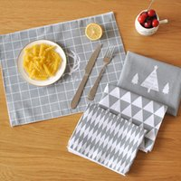 Wholesale Hot Sale Nordic Style Table Napkin Insulation Placemat Cotton Linen cm Traycloth Dinner Cloth MOQ