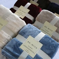 Wholesale Flannel blanket blanket Blanket Sofa thickened sheets upgrade coral carpet towel blanket Factory direct sales quality assurance