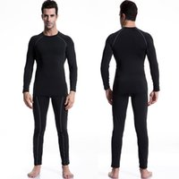 Wholesale New Compression Quick Dry Running Set Tight Tracksuit Men Training Fitness Long Sleeve Shirt Pant Male O Neck Gym Sport Suit