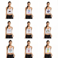 Women Camis Geometric Sexy Crop Tops 2017 Summer V Neck Backless Tanks Camis Womens Tops 3D Print Skull Starbucks Shark Vest Loose Casual Shirts Ladies Tops 734