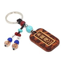 Wholesale Spring Sale Zodiac Sign Wood Made Key Ring Constellation Man Key Finder Lucky Charm Fortune Key Chain Women Amulet SPXM0072