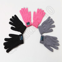 Wholesale Touch Bluetooth Gloves Winter Touch Screen Gloves Knit Gloves Mittens Men For Mobile Phone Wireless Smart Headset Speaker colors OOA896