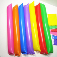 Wholesale 2016 hot free ship spirit stick200 Pieces Colors THICK Inflated New Year Noisemaker Sticks Inflatable Spirit Stick Party Cheer Playing Toy
