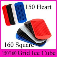 Wholesale Ice Maker Mold Grid Ice Cube Diamond Square Shape Grid Lover Heart shape Silicone Mini Ice Cube Tray Mold Ice Chocolate Baking Mold