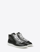 ace high printing - Discount Buy New Black White Maison Margiela Pairs Breathable High Quality Calfskin Leather Mens Ace Sneakers