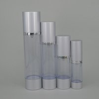 acrylic vacuum - 15ml ml ml Acrylic plastic cosmetic bottles ml silver vacuum pump bottle airless spary head hight quality liquid cosmetic bottle