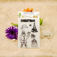 accounting gift cards - Scrapbook DIY photo cards account rubber stamp clear stamp transparent stamp Christmas Santa Gift Box Gift Bag x16cm KW651408