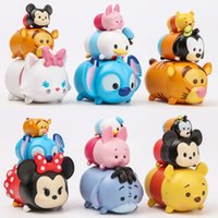 5-7 Years Multicolor Tsum Tsum Stack Figures 30PCS Set Stitch Mickey Minnie Donald Duck Goofy Dog Marie Cat Piglet Eeyore Tigger Bear Kids Toys Gift
