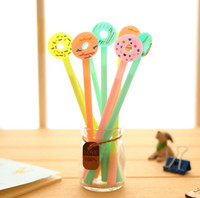 Wholesale Candy Color Donuts Pen Needle Neutral Pens Black Pens Learning Gifts For Students Korean Stationery